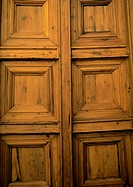 Paneled wooden door, full frame