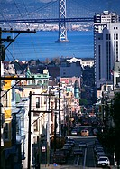 California, San Francisco, street and port