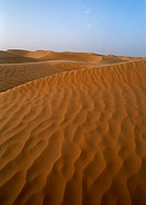 Tunisia, Sahara, sand dunes against sky