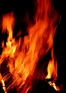 Flames of fire, close-up, blurred motion