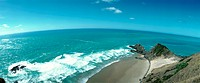 New Zealand, seascape, elevated view