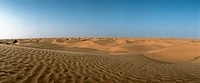 Tunisia, desert, panoramic view