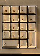 Part of computer keyboard, close-up
