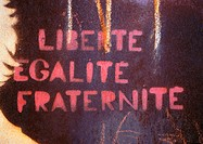 'Freedom, equality, brotherhood' text in French
