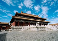 China, Beijing, Forbidden City, palace, low angle view