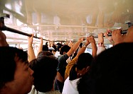 China, Hebei Province, Beijing, crowded bus