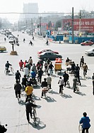 China, Beijing, traffic in street