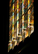 Stained-glass windows, low angle view