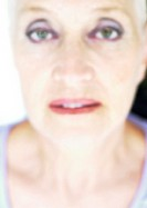 Mature woman, close-up, portrait, blurred