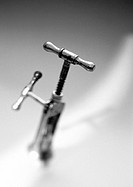 Corkscrew, close-up, b&w