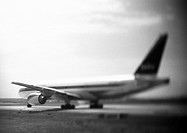 Airplane, b&w
