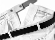 Belt, close-up, b&amp;w