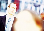 Businessman, portrait, blurred (thumbnail)
