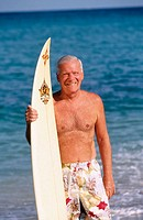 Senior surfer