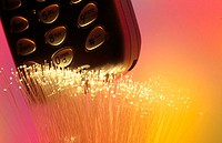 Fiber optics and cell phone
