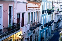 Street. San Juan. Puerto Rico. West Indies. Caribbean