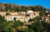 Village of Aullene in Corsica Island. France