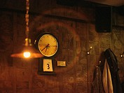Clock, lamp and jacket