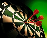 Dartboard and darts
