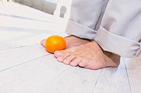 Feet and fruit
