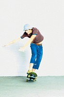 Man skateboarding