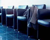 Leather chairs in hospital waiting room (thumbnail)