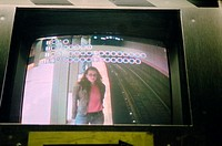 View of woman from security camera
