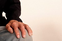 Hand of elderly man