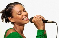 Asian woman singing