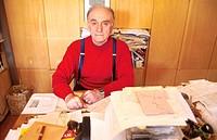 Andrea Zanzotto, Italian poet, 1997