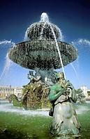 Fountain in summer. Place de la Concorde. Paris. France