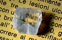 Double refraction of iceland spar (variety of calcite)