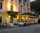 Evening Outside Dining, Albergo Ristorante Olivedo, Varenna, Lake Como, Lombardia, Italy