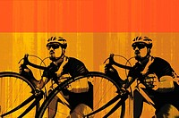 Digital composite image of a cyclist (thumbnail)