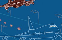 Drawing of a planes flying (thumbnail)