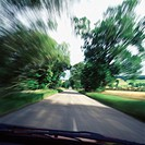 Vehicle driving along a country road (thumbnail)