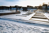 Snow-covered marina in winter (thumbnail)