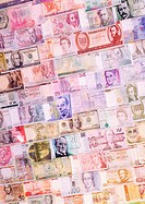 Collection of banknotes of different currencies (thumbnail)