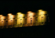 Arno River side at night, detail. Italy