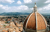 Santa Maria del Fiore cathedral dome. Florence. Italy