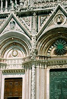 Duomo cathedral detail. Siena. Tuscany. Italy