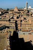 View from Mangia Tower. Siena. Tuscany, Italy