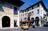 Piazza Garibaldi in Asolo. Veneto, Italy
