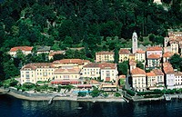 View of Bellagio and Como Lake. Lombardy, Italy