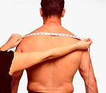 Measuring across male back