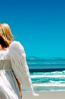Angel on the beach