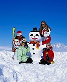 Highland shaft, family, snowman