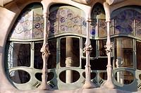 Casa Batllo by Gaudi in Passeig de Gracia. Barcelona. Catalonia. Spain