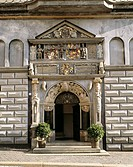 City Hall main portal, Gera, Thuringia, Germany