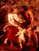 Ü Kunst, Rubens, Peter Paul (28.6.1577 - 30.5.1640), Gemälde ´Meleager und Atalante´,  um 1635, Öl auf Leinwand, Alte Pinakothek,  München  barock, my...